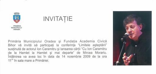 Invitatie Ion Caramitru